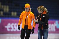 SCHAATSEN: HEERENVEEN: 01-02-2014, IJsstadion Thialf, Olympische testwedstrijd, Yvonne Nauta, Marianne Timmer, ©foto Martin de Jong