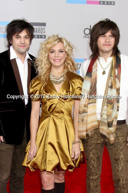 LOS ANGELES - NOV 21:  The Band Perry - Reid Perry; Kimberly Perry; Neil Perry  arrives at the 2010 American Music Awards at Nokia Theater on November 21, 2010 in Los Angeles, CA