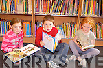 READING: Enjoying the new weekly Story Time gathering at Glin Library on Friday were Saoirse Leahy, Darragh Leahy and Anne Daly.