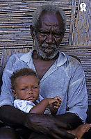 Portrait of Custom baby in grandfather's arms, Tanna Island, Vanuatu (Licence this image exclusively with Getty: http://www.gettyimages.com/detail/82064701 )