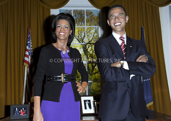 WWW.ACEPIXS.COM . . . . .  ..... . . . . US SALES ONLY . . . . .....January 19 2010, London....Wax figures of Michelle and Barack Obama unveiled at Madame Tussauds on January 19 2010 in London....Please byline: FAMOUS-ACE PICTURES... . . . .  ....Ace Pictures, Inc:  ..tel: (212) 243 8787 or (646) 769 0430..e-mail: info@acepixs.com..web: http://www.acepixs.com