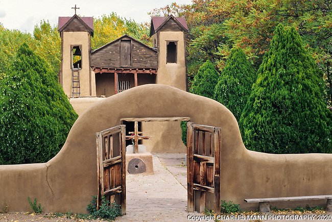 "Visitors come from everywhere to the Santuario de Chemayo in Chimayo, New Mexico, which is often called the ""Lourdes of America"" due to the alleged healing properties of the soil that comes from the church's sanctuary."