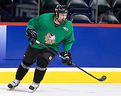 Andrew Kozek (North Dakota 10) - The 2008 Frozen Four participants practiced on Wednesday, April 9, 2008, at the Pepsi Center in Denver, Colorado.
