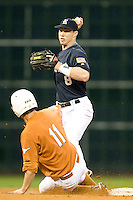 Rice Owl Michael Ratteree #8 against the Texas Longhorns on Friday March 5th, 2100 at the Astros College Classic in Houston's Minute Maid Park.  (Photo by Andrew Woolley / Four Seam Images)