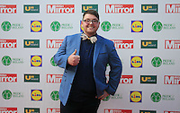 19/05/2015 <br /> Winner of the voice Patrick Donoghue <br /> during the Irish mirror pride of Ireland awards at the mansion house, Dublin.<br /> Photo: gareth chaney Collins
