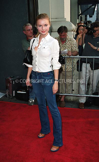 "Izabella Miko attending a screening of ""Never Again"" in New York, July 8, 2002. Please byline: Alecsey Boldeskul/NY Photo Press.   ..*PAY-PER-USE*      ....NY Photo Press:  ..phone (646) 267-6913;   ..e-mail: info@nyphotopress.com"