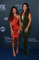 NEW YORK, NY - MAY 14: Halle Bailey and Chloe Bailey at the Walt Disney Television 2019 Upfront at Tavern on the Green in New York City on May 14, 2019. <br /> CAP/MPI99<br /> ©MPI99/Capital Pictures
