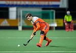 AMSTELVEEN - Lars Balk (Ned)  tijdens   de hockeyinterland Nederland-Ierland (7-1) , naar aanloop van het WK hockey in India.  COPYRIGHT KOEN SUYK