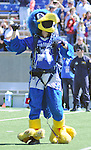 September 10, 2016 - Colorado Springs, Colorado, U.S. - Air Force mascot, The Bird, skydives into the stadium prior to the NCAA Football game between the Georgia State Panthers and the Air Force Academy Falcons, Falcon Stadium, U.S. Air Force Academy, Colorado Springs, Colorado.  Air Force defeats Georgia State 48-14.