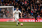 3rd February 2019, Santiago Bernabeu, Madrid, Spain; La Liga football, Real Madrid versus Alaves; Jose I Fernandez, NACHO (Real Madrid) breaks forward on the ball