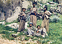 Iraq 1987.A group of Saman Germiani in Qara Dag.Irak 1987.Une unite de Saman Germiani dans le Qara dag