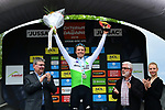 Edvald Boasson Hagen (NOR) Team Dimension Data wins Stage 1 of the Criterium du Dauphine 2019, running 142km from Aurillac to Jussac, France. 9th June 2019<br /> Picture: ASO/Alex Broadway | Cyclefile<br /> All photos usage must carry mandatory copyright credit (© Cyclefile | ASO/Alex Broadway)