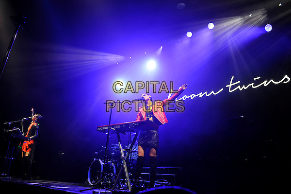 LONDON, ENGLAND - DECEMBER 8: Sonya Kupriienko and Anna Kupriienko of 'Bloom Twins' performing at O2 Arena on December 8, 2015 in London, England.<br /> CAP/MAR<br /> &copy; Martin Harris/Capital Pictures