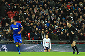 7th January 2018, Wembley Stadium, London, England;  FA Cup football, 3rd round, Tottenham Hotspur versus AFC Wimbledon; Dele Alli of Tottenham Hotspur looks up but cannot believe he was not awarded a penalty