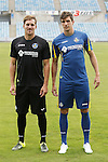 Santiago Vergini (R) and Balazs Megyeri during their presentation as new Getafe´s `players in Madrid, Spain. July 16, 2015. (ALTERPHOTOS/Victor Blanco)