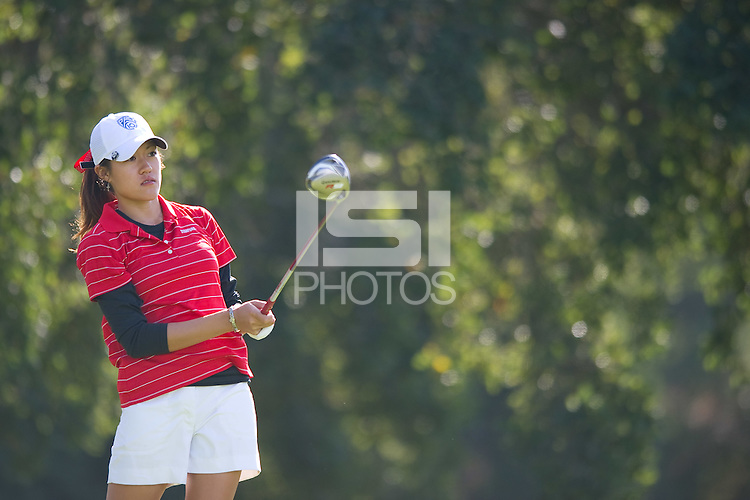STANFORD, CA - NOVEMBER 6: Kristina Wong of the Stanford women's golf competes in the second round of the PAC-10 / SEC Challenge at the Stanford Golf Course in Stanford, California on November 5, 2010.