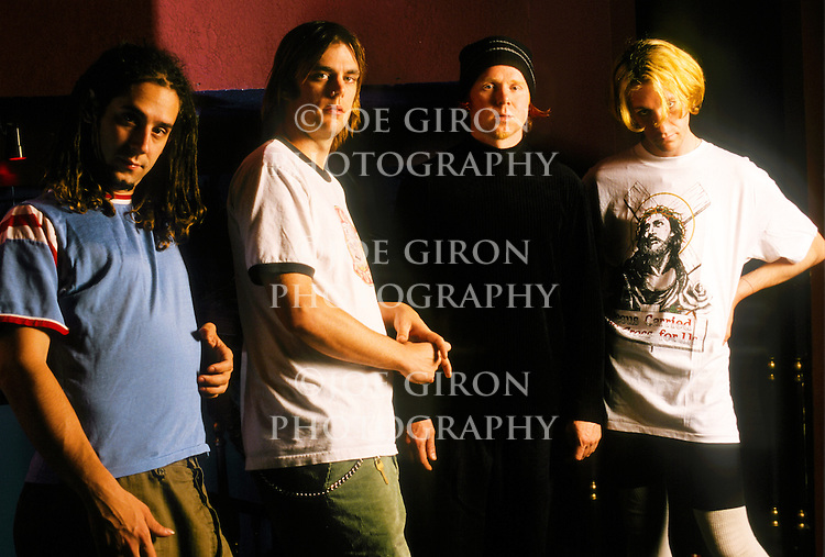 Various portrait sessions of the rock band, God Lives Underwater