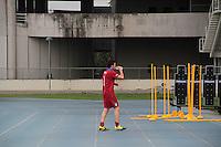 RIO DE JANEIRO; RJ; 14 DE JUNHO 2013- O goleiro Buffon da Italia de futebol treina na tarde desta sexta-feira (14) no gramado anexo do Engenhão de olho na estreia do próximo domingo contra o México pela primeira rodada da Copa das Confederações no Rio de Janeiro, jogo que acontecerá no Maracanã. FOTO: NÉSTOR J. BEREMBLUM - BRAZIL PHOTO PRESS.