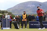 Amelia Garvey (NZL) on the 1st tee during the Matchplay Final of the Women's Amateur Championship at Royal County Down Golf Club in Newcastle Co. Down on Saturday 15th June 2019.<br /> Picture:  Thos Caffrey / www.golffile.ie<br /> <br /> All photos usage must carry mandatory copyright credit (© Golffile | Thos Caffrey)