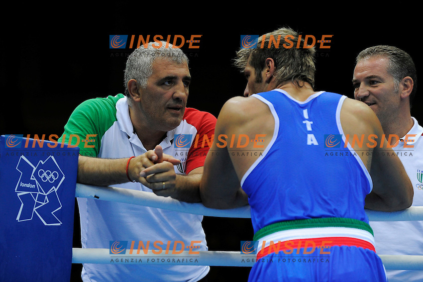Clemente Russo Italia Silver Medal e Francesco Damiani.BOXE Men's Heavy 91 Kg.London 11/8/2012 ExCel South Arena 2.London 2012 Olympic games - Olimpiadi Londra 2012.Foto Pool Insidefoto