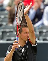 18-06-10, Tennis, Rosmalen, Unicef Open,    Sergly Stakhovski juicht, hij plaatst zich voor de finale