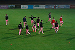 Coventry United 3 Highgate United 5, 17/10/2017. Butts Park Arena, Birmingham Senior Cup. Highgate players warming up.  Photo by Paul Thompson.