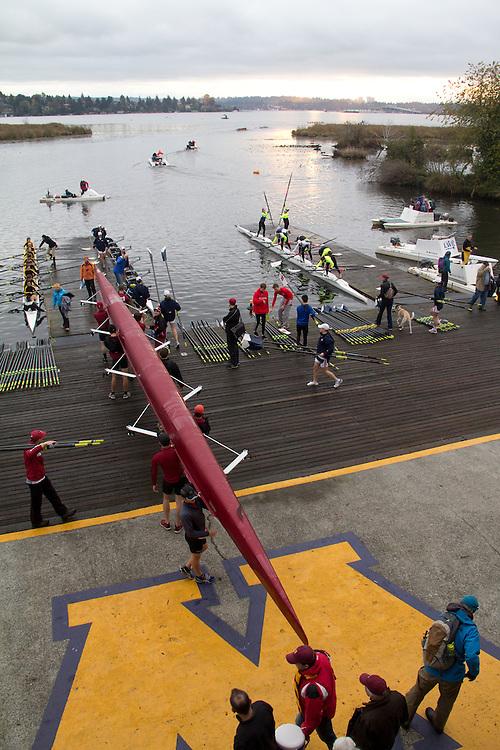 Rowing, Head of the Lake Regatta, November 2 2014, Seattle, Washington State, Lake Washington Rowing Club, Annual Regatta, Lake Washington Ship Canal, Montlake Cut,