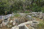 Israel, Upper Galilee, remains of an Olive press in Hurvat Danaila