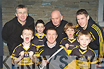 Dr Crokes Senior Captain Kieran O'Leary celebrates the club being named the Munster GAA club of the year with his young and older clubmates on Tuesday front row l-r: TJ O'Sullivan, Cian O'Connor, Kieran O'Leary, Coilte O Cronín and Conor O'Shea. Back row: Ger O'Shea, Eddie Tatler O'Sullivan and David O'Leary