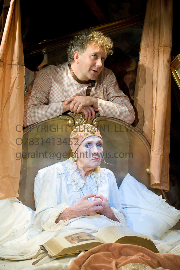 Mother Adam by Charles Dyer, directed by Gene David Kirk. With Linda Marlowe as Mammles, Jasper Britton as Adam. Opens at The Jermyn Street Theatre  on 10/5/12 .CREDIT Geraint Lewis