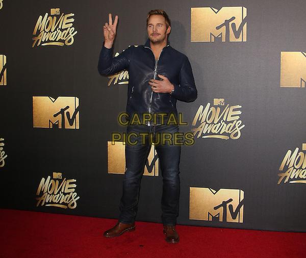 09 April 2016 - Burbank, California - Chris Pratt. 2016 MTV Movie Awards held at Warner Bros. Studios. <br /> CAP/ADM/SAM<br /> &copy;SAM/ADM/Capital Pictures
