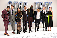 "Zachary Quinto, Karl Urban, Sofia Boudella, John Cho, Idris Alba, director, Justin Lin, Simon Pegg and Lydia Wilson<br /> arrives for the ""Star Trek Beyond"" premiere at the Empire Leicester Square, London.<br /> <br /> <br /> ©Ash Knotek  D3140  12/07/2016"