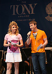 Scarlett Strallen and Jeff Kready performing at United presents 'Stars in the Alley' in  Shubert Alley on May 27, 2015 in New York City.