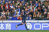 30th September 2017, The John Smiths Stadium, Huddersfield, England; EPL Premier League football, Huddersfield Town versus Tottenham Hotspur; Harry Kane of Tottenham celebrates his goal in the 9th minute 1-0