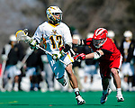 19 March 2011: University of Vermont Catamount Midfielder Kyle Sminkey, a Senior from White River Junction, VT, in action against the St. John's University Red Storm at Moulton Winder Field in Burlington, Vermont. The Catamounts defeated the visiting Red Storm 14-9. Mandatory Credit: Ed Wolfstein Photo