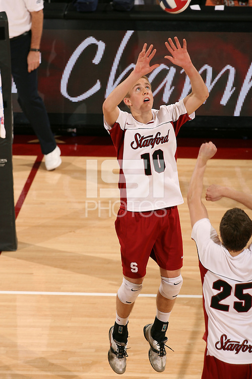 STANFORD, CA - JANUARY 30:  Evan Barry of the Stanford Cardinal during Stanford's 3-2 win over the Long Beach State 49ers on January 30, 2009 at Maples Pavilion in Stanford, California.