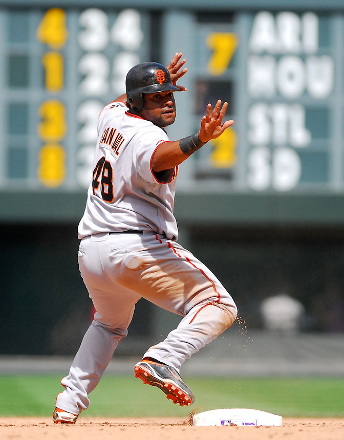 August 23, 2009: Giants 3rd baseman Pablo Sandoval during a regular season game between the San Francisco Giants and the Colorado Rockies at Coors Field in Denver, Colorado. The Rockies beat the Giants 4-2. *****For editorial use only*****