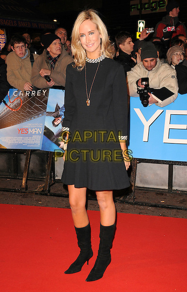 """LADY VICTORIA HERVEY .World Premiere of """"Yes Man"""" at the Vue Cinema, Leicester Square, London, England, December 9th 2008..full length black knee high boots dress necklace jewel encrusted bracelet silver beads beaded trim .CAP/CAS.©Bob Cass/Capital Pictures"""