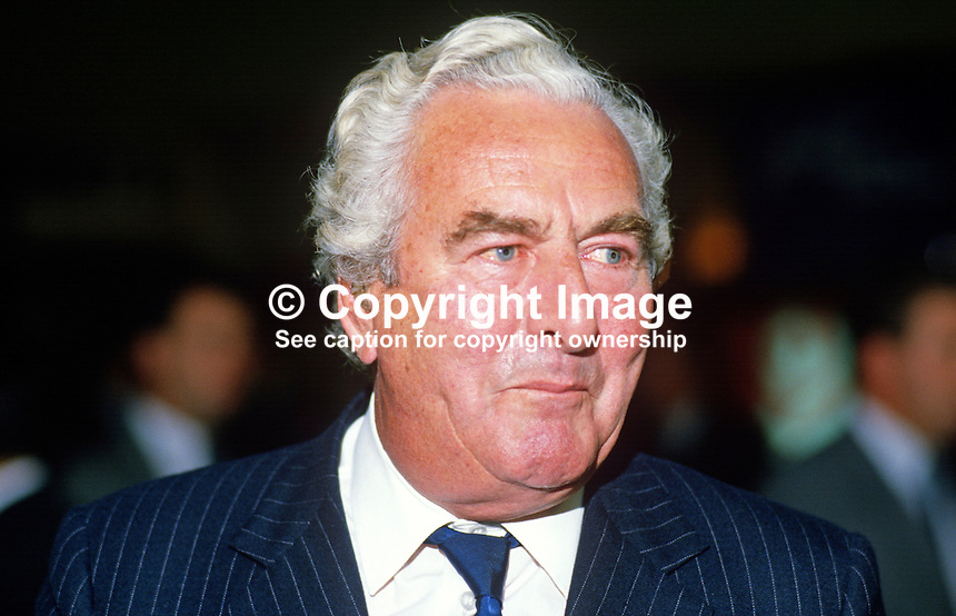 Peter Thomas, former MP, Conservative Party, UK, 19871025PT2.<br />