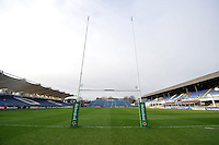 A general view of the RDS Arena prior to the match. European Rugby Champions Cup match, between Leinster Rugby and Bath Rugby on January 16, 2016 at the RDS Arena in Dublin, Republic of Ireland. Photo by: Patrick Khachfe / Onside Images
