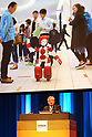 "November 1, 2017, Tokyo, Japan - Japanese electronics giant Hitachi president Toshiaki Higashihara delivers a keynote speech for the opening of the company's high tech exhibition ""Hitachi Social Innovation Forum 2017"" in Tokyo on Wednesday, November 1, 2017. Hitachi exhibited their latest technologies at a two-day convention.    (Photo by Yoshio Tsunoda/AFLO) LWX -ytd-"