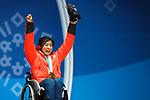 Momoka Muraoka (JPN), MARCH 15, 2018 - Alpine Skiing : <br /> Women's Giant Slalom Sitting Medal Ceremony<br /> at PyeongChang Medals Plaza <br /> during the PyeongChang 2018 Paralympics Winter Games in Pyeongchang, South Korea. <br /> (Photo by Sho Tamura/AFLO SPORT)