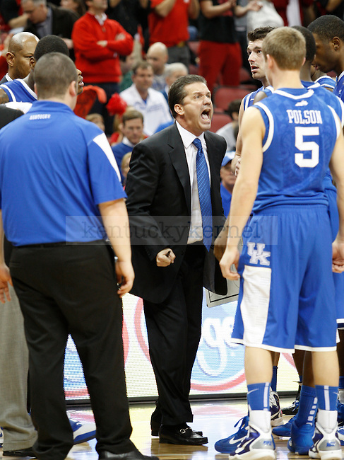 Head coach John Calipari during the game against the University of Louisville at the Yum! Center on Friday, December 31, 2010. Photo by Latara Appleby   Staff