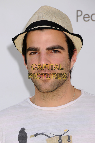 "ZACHARY QUINTO .""A Time For Heroes"" Celebrity Carnival Benefit for the Elizabeth Glaser Pediatric AIDS Foundation at the Wadsworth Fairgrounds, Los Angeles, California, USA..June 8th, 2008.headshot portrait beige hat stubble facial hair .CAP/ADM/BP.©Byron Purvis/AdMedia/Capital Pictures."