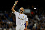 Karim Benzema of Real Madrid celebrates goal during La Liga match between Real Madrid and CD Leganes at Santiago Bernabeu Stadium in Madrid, Spain. October 30, 2019. (ALTERPHOTOS/A. Perez Meca)