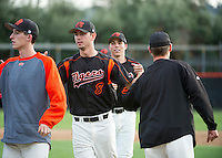 The Occidental College baseball team plays at Anderson Field, March 3, 2014.<br /> (Freelance, photo by Kirby Lee)