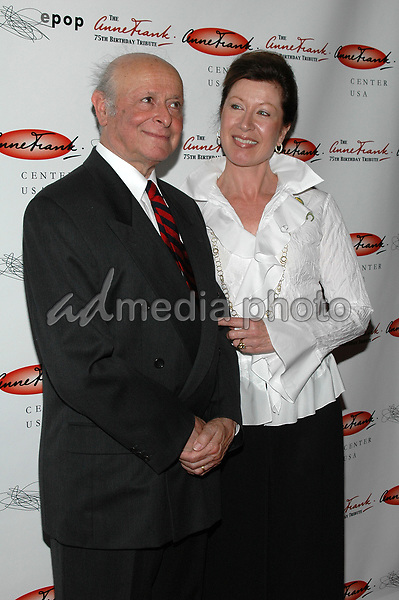 7June 2005 - New York, New York - Buddy Elias, Anne Frank's 1st cousin and only living relative and Elizabeth Feerick of the Anne Frank Foundation arrive at the Anne Frank 75th Birthday Tribute at the Chelsea Piers. <br />Photo Credit: Patti Ouderkirk/AdMedia