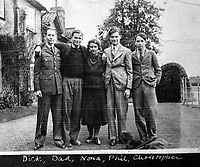 BNPS.co.uk (01202 558833)<br /> Pic: SusanBond/BNPS<br /> <br /> Poignant - last picture of Susan Bond's grandmother with her boys during WW2 - Richard (left) and Phil (2nd right) were killed soon after.<br /> <br /> Military museum in hot water over missing medals..<br /> <br /> A woman whose father and grandfather donated their highly-valuable gallantry medals to an army museum is furious they have disappeared having been suspiciously substituted for duplicates.<br /> <br /> Susan Bond, whose husband Richard is a retired crown court judge, discovered the two Military Cross groups at the The Royal Green Jackets Museum are not the ones bequeathed to them after one set appeared on the open market.<br /> <br /> Mrs Bond confronted the trustees at the museum, whose former Colonel-in-Chief was the Queen, but the 70-year-old has been left dismayed at their 'indifferent' response at the loss which they have been unable to properly explain.<br /> <br /> The owners - the museum based in Winchester, Hants - said they were satisfied that no criminal activity had taken place and the police investigation came to nothing.