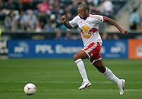 CHESTER, PA - OCTOBER 27, 2012:   Thierry Henry (14) of the New York Red Bulls during an MLS match against the Philadelphia Union at PPL Park in Chester, PA. on October 27. Red Bulls won 3-0.