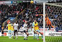 Rotherham United's Marek Rodak saves<br /> <br /> Photographer Andrew Kearns/CameraSport<br /> <br /> The EFL Sky Bet Championship - Bolton Wanderers v Rotherham United - Wednesday 26th December 2018 - University of Bolton Stadium - Bolton<br /> <br /> World Copyright &copy; 2018 CameraSport. All rights reserved. 43 Linden Ave. Countesthorpe. Leicester. England. LE8 5PG - Tel: +44 (0) 116 277 4147 - admin@camerasport.com - www.camerasport.com